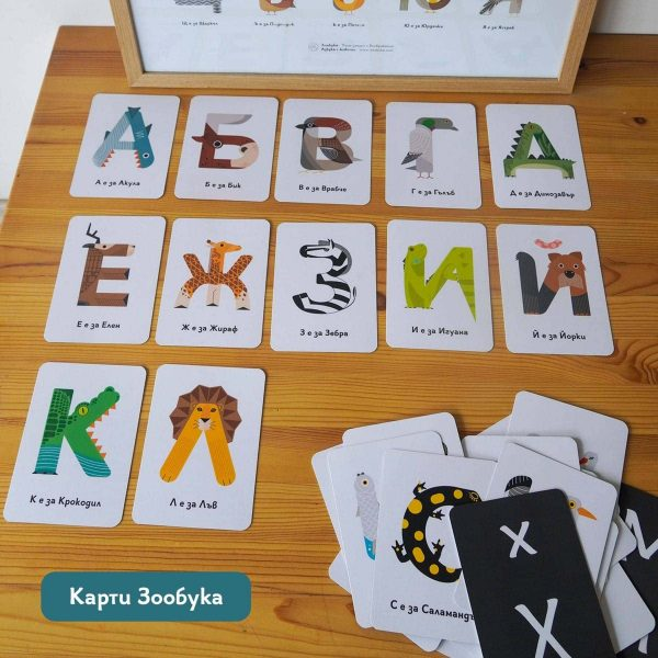 Образователни карти с българската азбука
